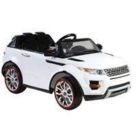 רכב ממונע לילדים דגם רנג' רובר עם הגה כוח וידית נשלפים לנשיאת הרכב כמו מזוודה