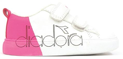 Diadora תינוקות // דרים ולק. לבן/פוקסיה