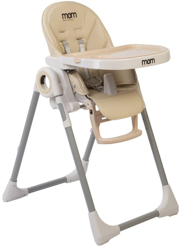 כסא אוכל Q1 בריפוד דמוי עור בצבע בז'