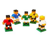משחק כדורגל 125 קוביות מוארות LIGHT STAX, תואם גודל קוביות LEGO - משלוח חינם!