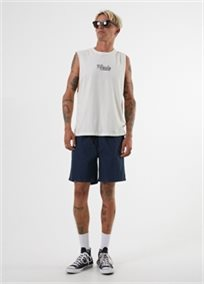 AFANDS גברים // BRIGHT SIDE BANDCUT TEE WHITE
