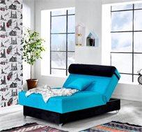 מיטה בגודל 120X190 מבד מיקרופייבר LEONARDO במגוון צבעים לבחירה