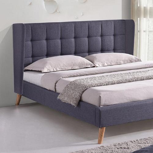 מיטה זוגית בריפוד בד עם בסיס עץ וראש מיטה מעוצב דגם גלעד HOME DECOR - תמונה 2