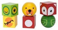 קוביות מגנטיות עם דמויות של חיות מעץ 6 חלקים 30445