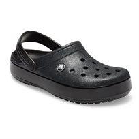 Crocs Crocband Glitter Clog - כפכף קלוג שחור בעיטור נצנצים עם סוליית פלטפורמה מבריקה