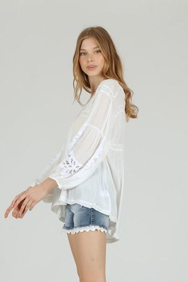 חולצה שרוול אפי לבן