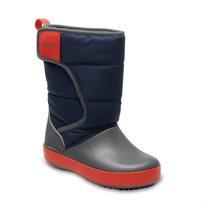 Crocs Kids LodgePoint Snow Boot - מגפיים בצבע נייביאפור