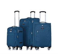 סט 3 מזוודות טרולי מבד וקלות משקל דגם Zurich