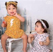 Oro שמלת בגד גוף טריקו (0-24 חודשים) - ורוד