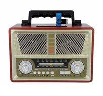 רדיו רטרו בעיצוב ייחודי משולב רמקול Bluetooth עם כניסת USB ונגן MP3 עם רמקול עוצמתי במיוחד