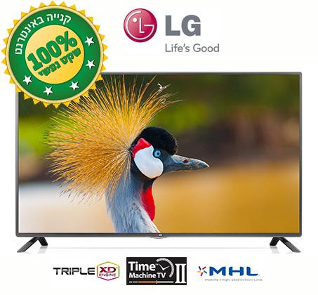 טלוויזיה  32 אינץ' Slim LED מבית LG עם טיונר דיגיטלי DVB-T2 ואפשרות הקלטה + 3 שנים אחריות VIP  - משלוח חינם!