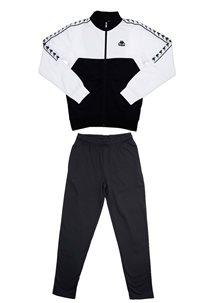 Kappa גברים// חליפת פוטר לבן שחור
