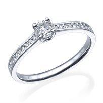 """טבעת יהלום """"בלו"""" 0.51 קראט זהב לבן"""