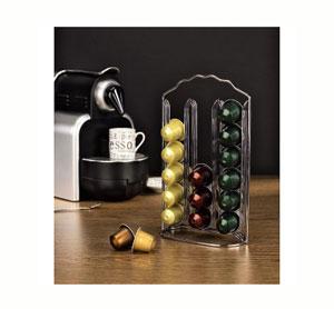 מתקן אחסון איכותי ומעוצב ל- 36 קפסולות קפה