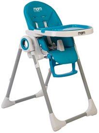 כסא אוכל Q1 בריפוד דמוי עור בצבע כחול שמים
