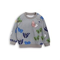 MINI RODINI// BUTTERFLIES SWEATSHIRT dark grey
