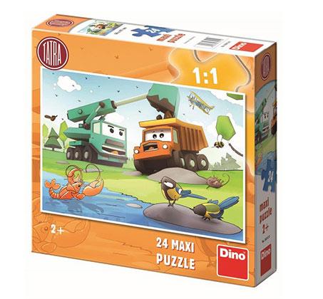 פאזל משאיות מכיל 24 חלקים
