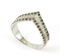 טבעת אירוסין, טבעת יהלומים מעוצבת בזהב 14 קאראט