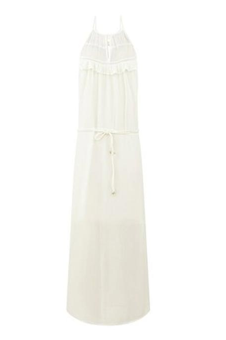 שמלת מקסי קייצית PROMOD בגזרת LOOSE - לבן