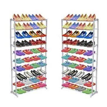 מעמד נעליים מודולרי שיעשה לכם סדר בחדר השינה, עם 10 מדפים המכיל עד כ-50 זוגות נעליים - תמונה 3