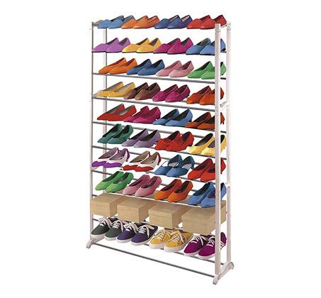 מעמד נעליים מודולרי עם 10 שלבים עד 50 זוגות