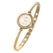 שעון יד לאישה ADI - עשוי כצמיד מוזהב בשילוב זכוכית ספיר ועמידה בפני שריטות