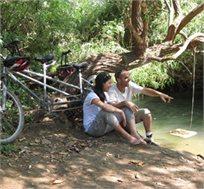 טיול משפחתי עם אופני שטח / חשמליים, רכבי גולף ועוד במסלול המשלב כניסה לנחל הדן, החל מ-₪36