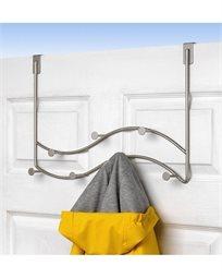 מתלה כפול על הדלת 7 קולבים - דגם Sweep - סאטן ניקל
