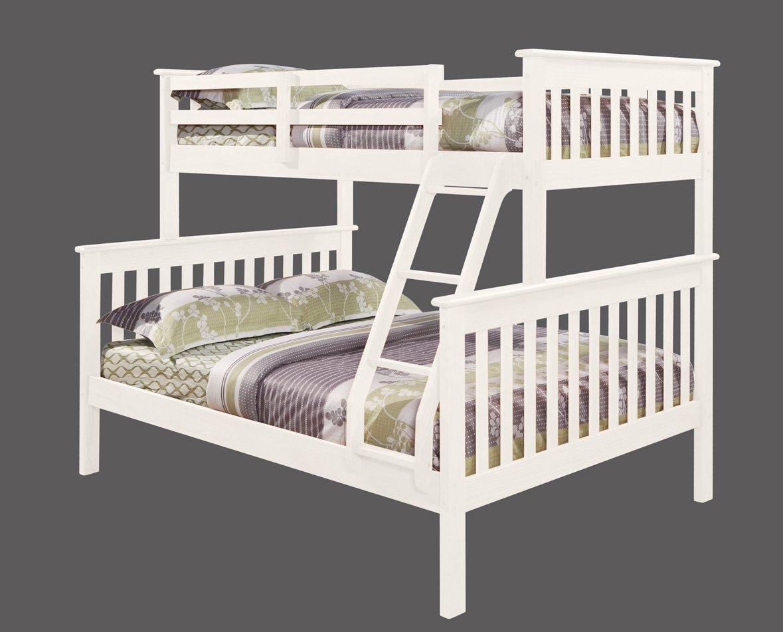 מיטת קומותיים מעץ מלא כולל מזרנים + 2 מגירות איחסון  Tailer - תמונה 2