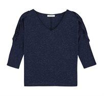 חולצת כתף חשופה עם צווארון וי PROMOD ב2 צבעים לבחירה