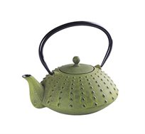 קומקום תה יפני Shinga מעוצב יציקת ברזל בשילוב אמייל GURO במגוון צבעים לבחירה