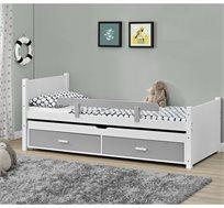 מיטת ילדים דגם ליאור מעץ מלא עם מיטה נשלפת לאירוח HOME DECOR