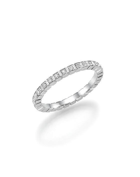 מפוארת טבעת זהב 14 קראט משובצת שורה של יהלומים לבנים במשקל כולל של 0.25 LS-29