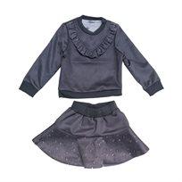 ORO חליפה(14-2 שנים) - זמס אפור בהיר