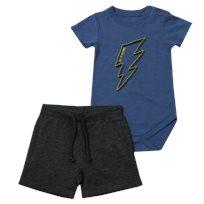 Minene חליפת בגד גוף (6-24 חודשים) - ברק כחול