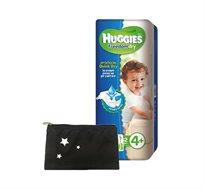 מארז 4 חבילות Huggies Freedom Dry + נרתיק מעוצב של גיטה