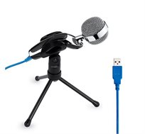 מיקרופון שדרים איכותי בחיבור USB כולל מעמד - OMNI DIRECTIONAL