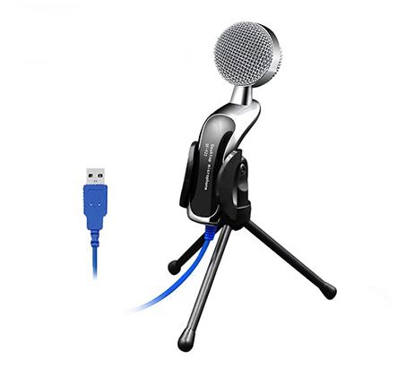 מיקרופון שדרים איכותי בחיבור USB כולל מעמד - OMNI DIRECTIONAL  - תמונה 2