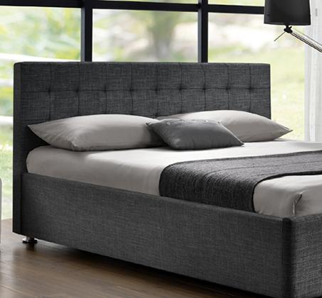 מיטה זוגית בריפוד בד אריג דגם עופרה עם בסיס עץ מלא דגם עופרה HOME DECOR  - תמונה 2