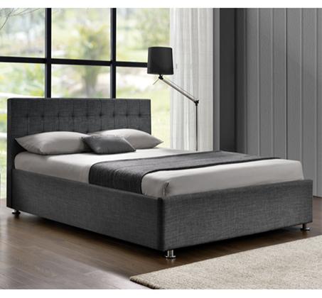 מיטה זוגית מרופדת בד בעיצוב מודרני דגם OFRA