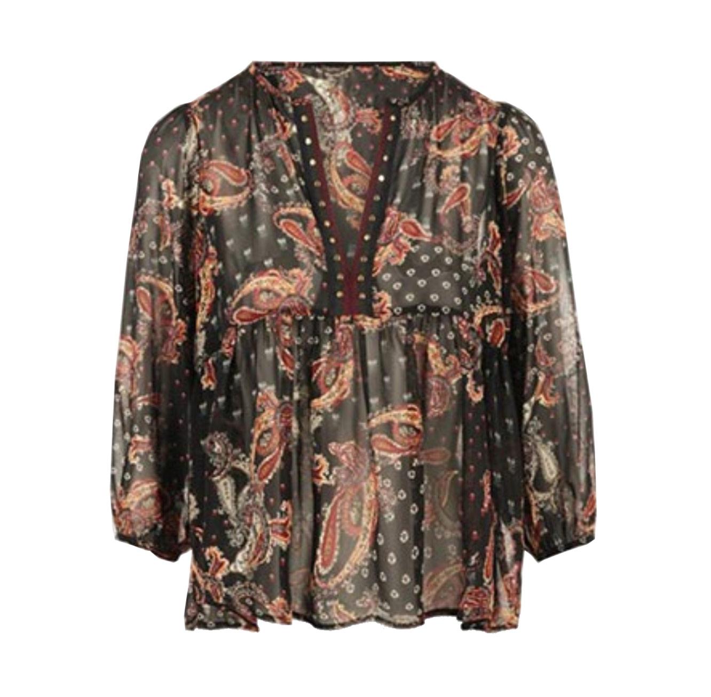 חולצת קשמיר עם שרוולי פעמון לנשים MORGAN - צבעוני