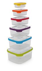סט 6 קופסאות אחסון Nest צבעוני