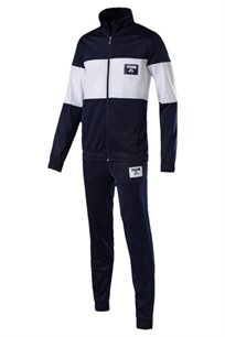 חליפת ספורט רב עונתית לגברים PUMA Rebel Block Tricot Suit Cl בצבע כחול ולבן