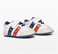 נעלי סניקרס לתינוקות עם עיטור כוכבים בצבע לבן