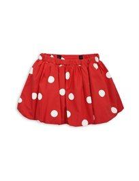 MINI RODINI// Dot woven skirt red