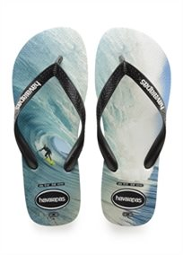 Havaianas גברים //  Top Photo Print Black/Blue