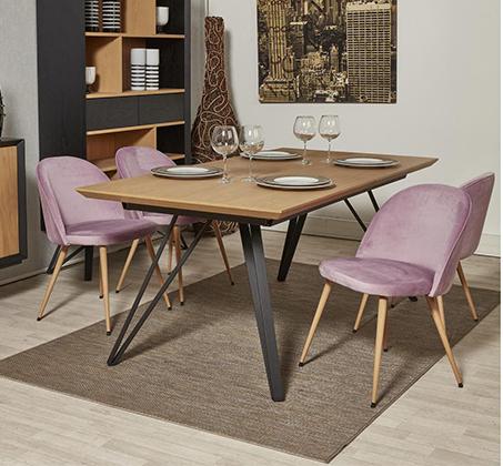 סט 4 כיסאות לפינת אוכל בריפוד קטיפה דגם Scandi בצבעים לבחירה מבית Ze Sweet Home - משלוח חינם - תמונה 6
