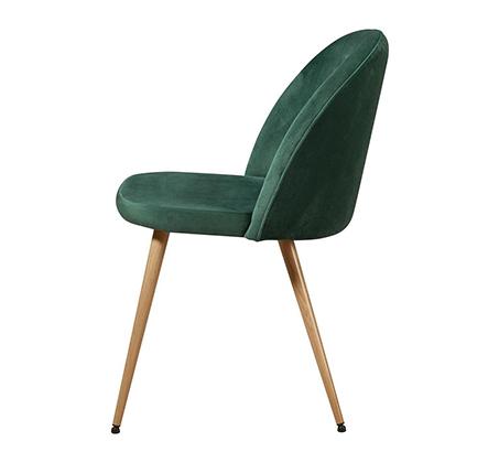 סט 4 כיסאות לפינת אוכל בריפוד קטיפה דגם Scandi בצבעים לבחירה מבית Ze Sweet Home - משלוח חינם - תמונה 2