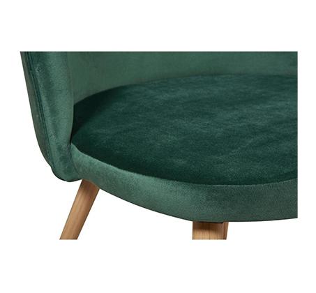 סט 4 כיסאות לפינת אוכל בריפוד קטיפה דגם Scandi בצבעים לבחירה מבית Ze Sweet Home - משלוח חינם - תמונה 4