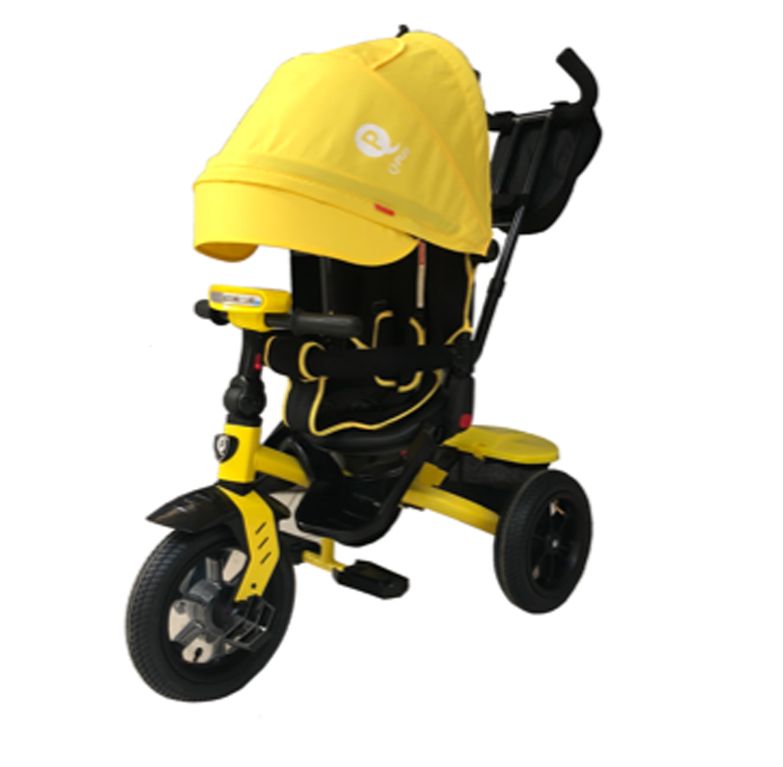 תלת אופן מרופד דגם T450 פריים ספורט עם גלגלי אוויר בצבעים לבחירה QPLAY - משלוח חינם - תמונה 2